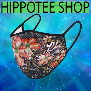 Abstract Flower Print Face Mask Sale For US